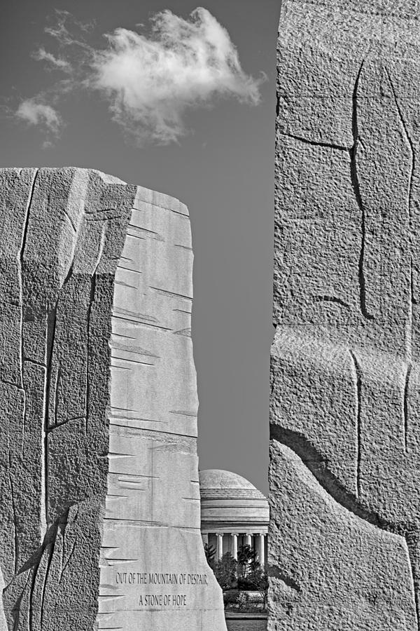 Architecture Photograph - A Stone Of Hope Bw by Susan Candelario