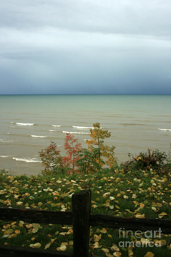 Lake Huron Photograph - A Storm Is Brewing by Kathy DesJardins
