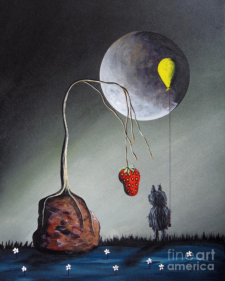 Gothic Painting - A Strange Dream By Shawna Erback by Shawna Erback