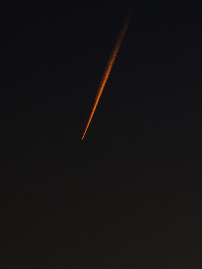 Comet Photograph - A Streak In The Dark Sky by Frank Chipasula