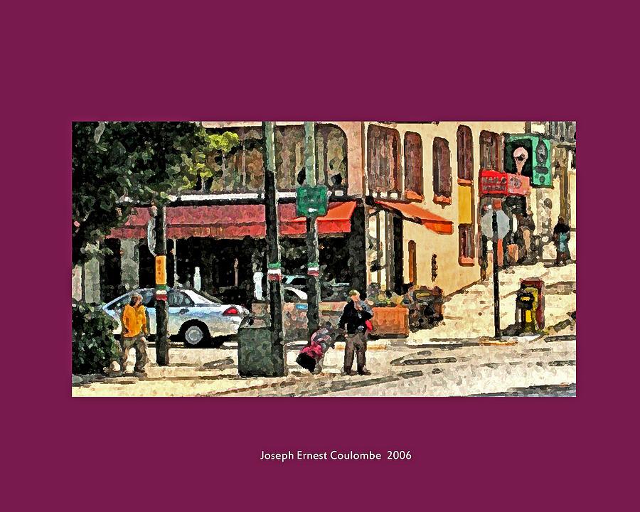 Fine Art Digital Art - A Street In Frisco 2006 by Joseph Coulombe