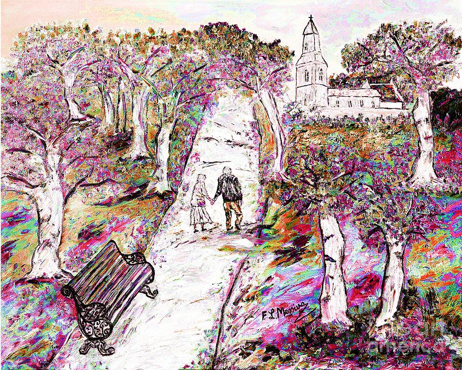 Mixed Media Painting - A Stroll In Autumn by Loredana Messina