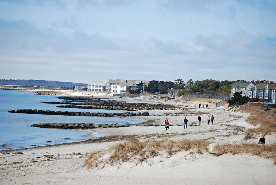 Cape Cod Photograph - A Stroll On The Beach by Alan Holbrook