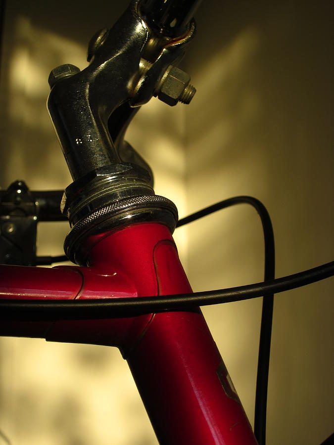 Bicycle Photograph - A Study In Scarlet Bicycle by Guy Ricketts