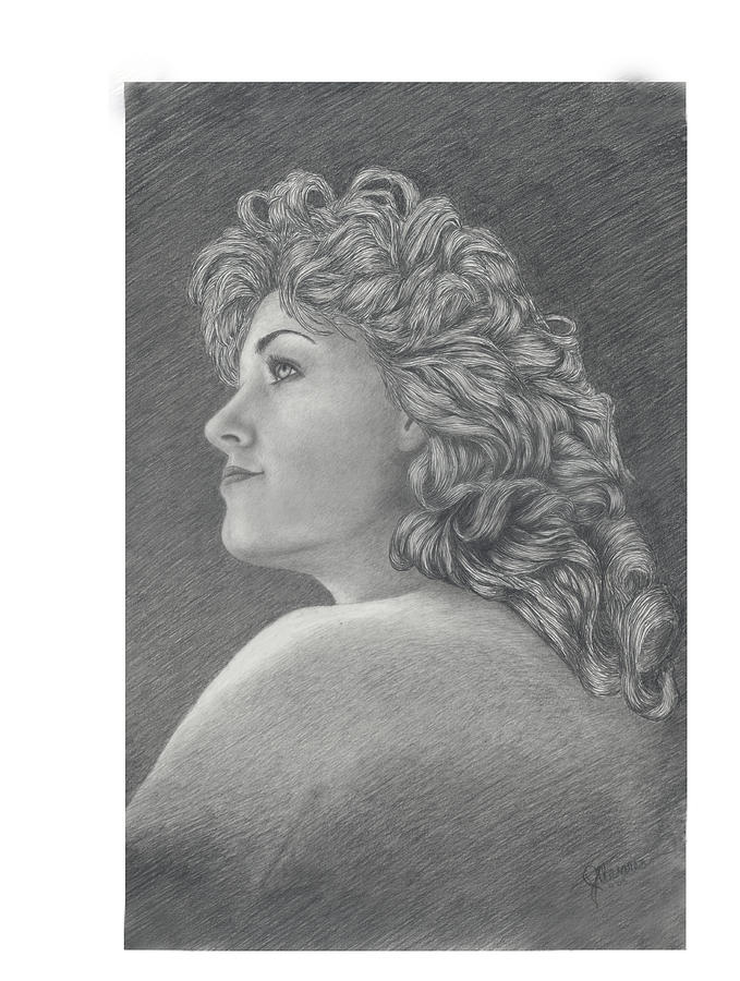 People Drawing - A Study On Phyl by Joe Olivares