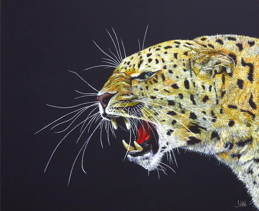 Leopard Painting - A Subtle Warning by John Hebb