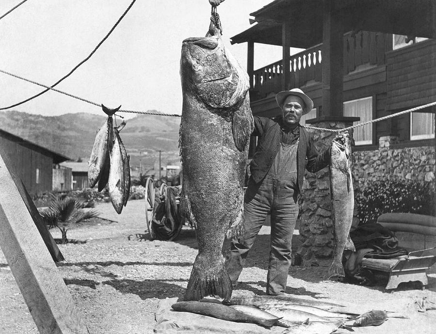 1900s Photograph - A Successful Day Of Fishing by Underwood Archives
