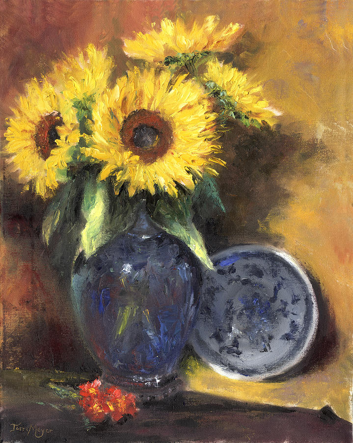 A Sunflower Smile Painting by Terri  Meyer