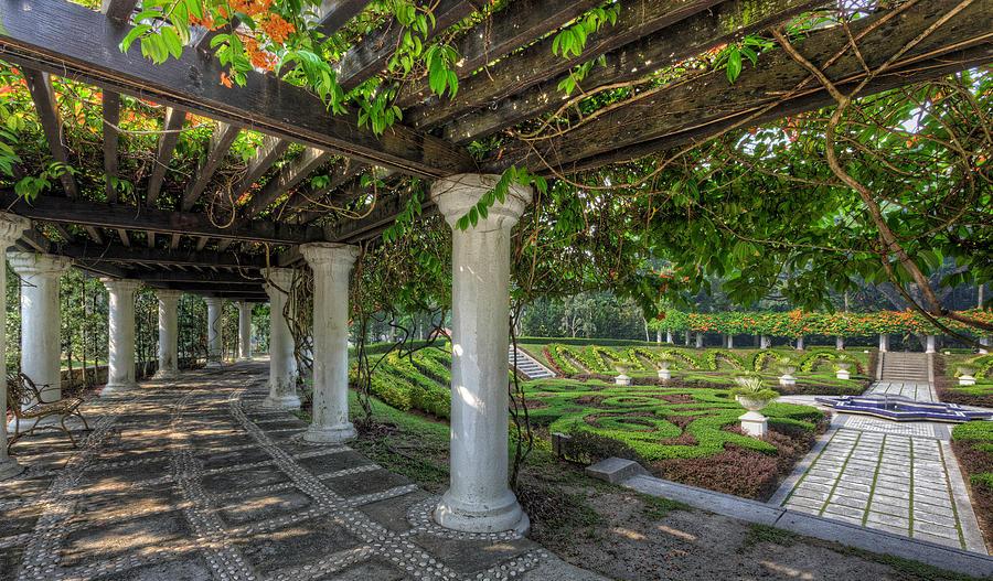 Garden Photograph - A Sunken Garden by Mario Legaspi