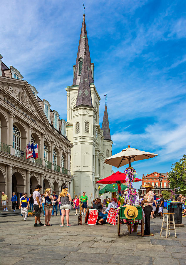 French Quarter Photograph - A Sunny Afternoon In Jackson Square by Steve Harrington