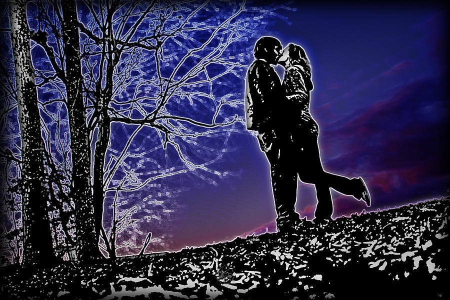 Love Photograph - A Sunset Embrace by Brian Archer