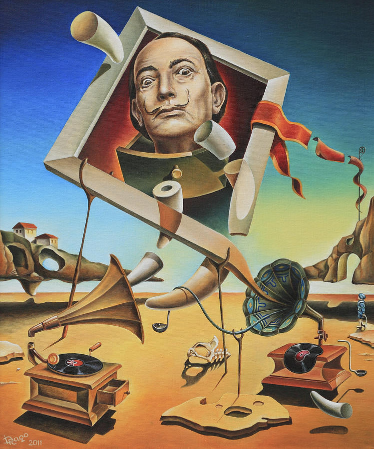 a surreal simulacrum of salvador dali painting by dragomir minkov
