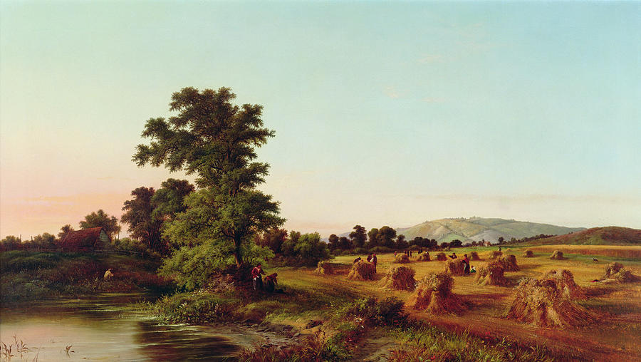English Painting - A Surrey Cornfield by Walter Williams