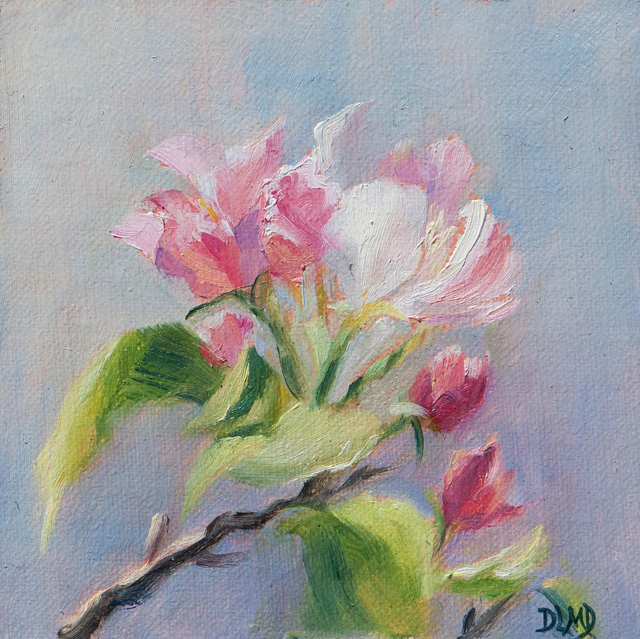 Apple Blossoms Painting - A Sweet Scent by Debbie Lamey-MacDonald
