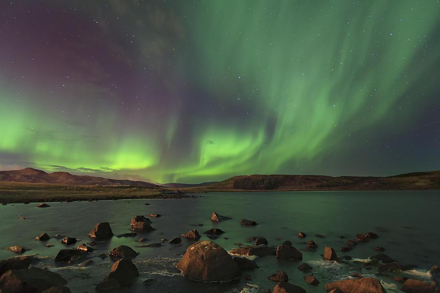 Green Photograph - A Symphony Of Lights ... by Iurie Belegurschi