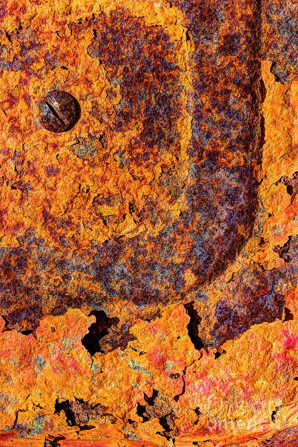 Orange Photograph - A Tad Rusty by Heidi Smith