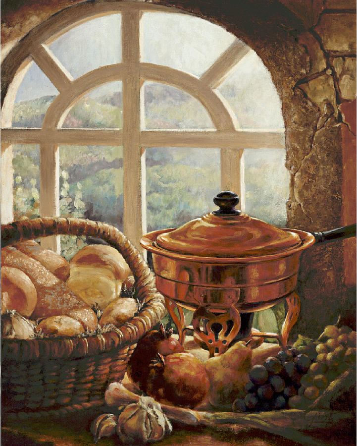 Still Life Painting - A Taste Of Provence by Gini Heywood