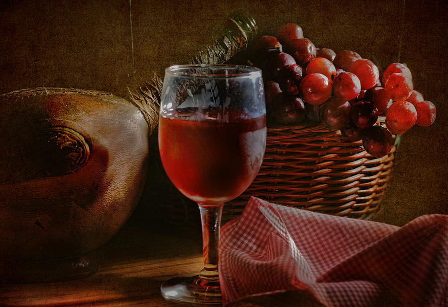 Alcohol Photograph - A Taste Of The Grape by David and Carol Kelly