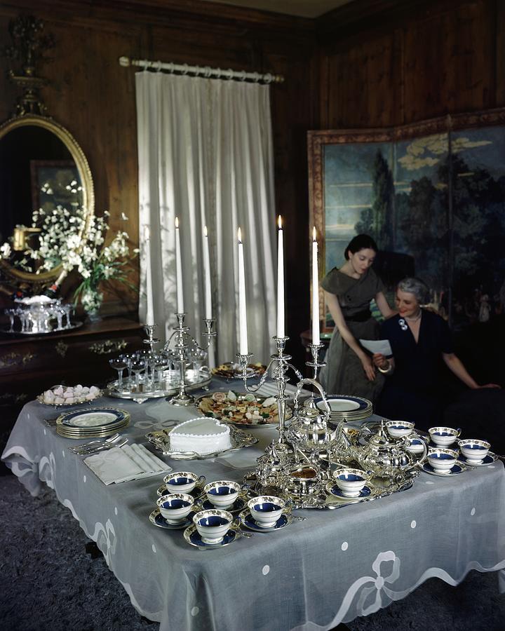 A Tea Service Photograph by John Rawlings