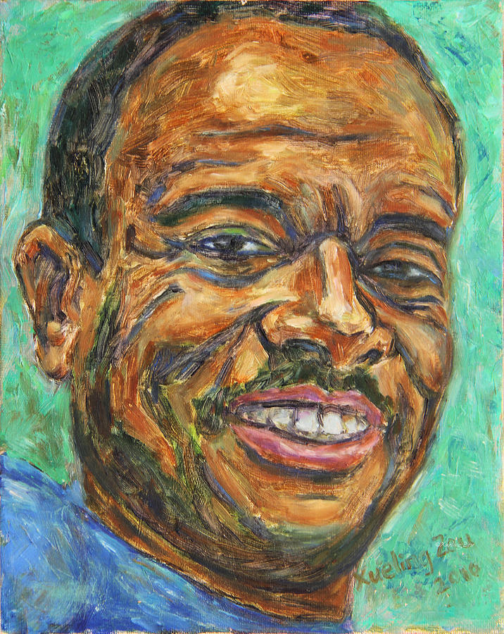 African American Painting - A Teacher From Atlanta Ga by Xueling Zou