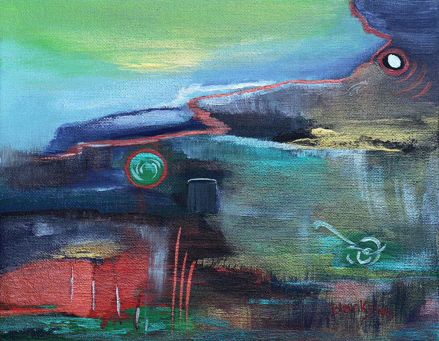 Time Painting - A Tear In Time by Donna Blackhall