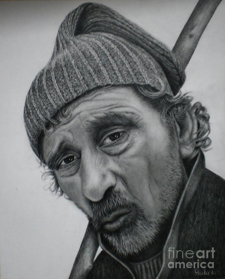 Graphite Painting - A Thousand Stories by Paula L