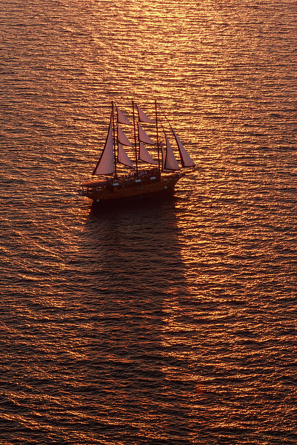 A Three-masted Sailing Ship With Full Photograph by Mint Images - Art Wolfe