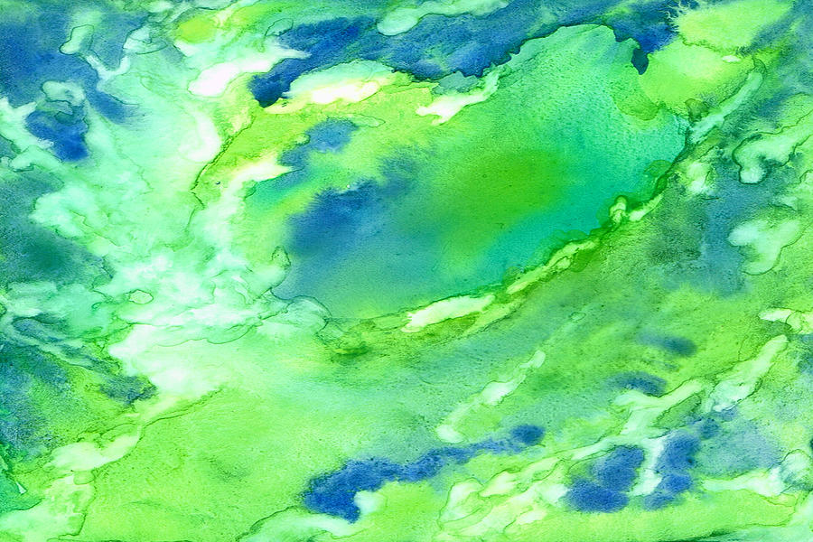 Abstract Painting - A Touch Of Blue by Rosie Brown