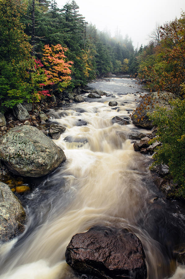 River Photograph - A Touch Of Fall by Mark Papke