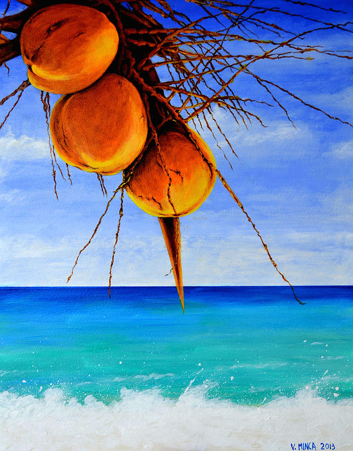 Landscape Painting - A Touch Of Gold by Victor Minca