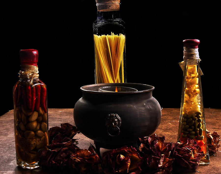 Spices Photograph - A Touch Of Italian  by Camille Lopez