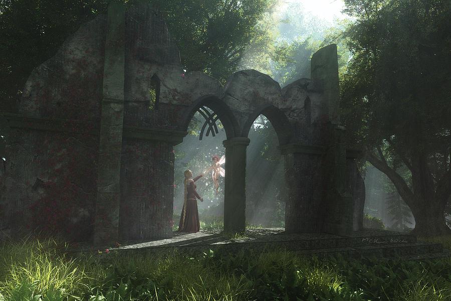 Fairy Digital Art - A Touch Of Magic by Melissa Krauss