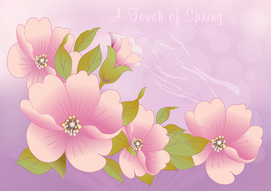 Flowers Digital Art - A Touch Of Spring by Gayle Odsather