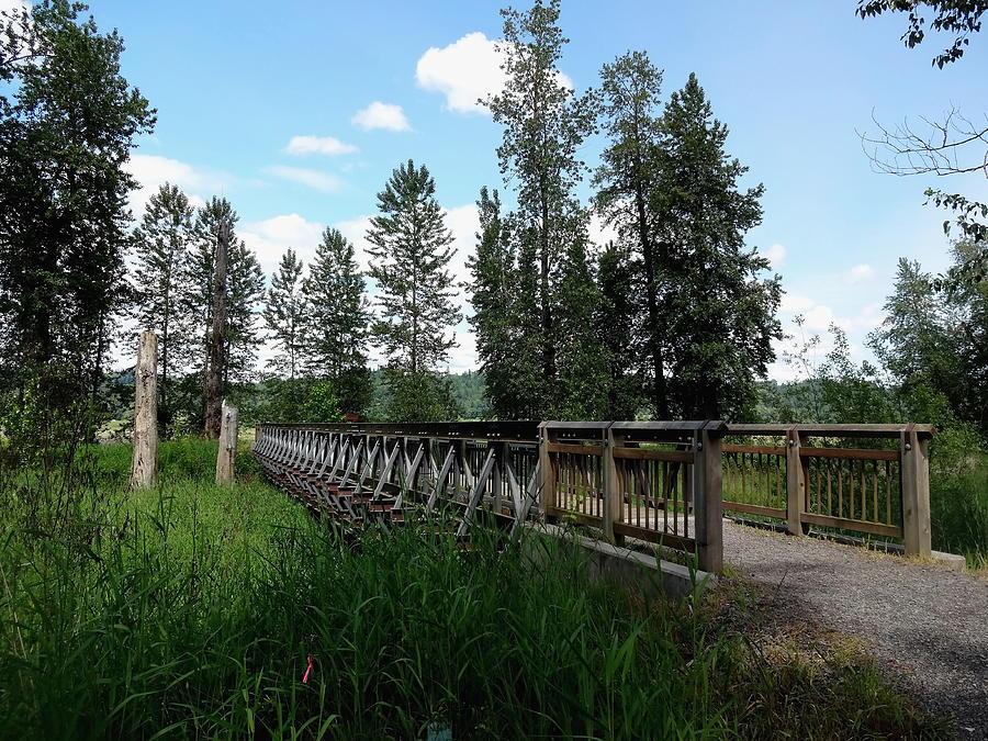Refuges Photograph - A Trails Footbridge by Lizbeth Bostrom