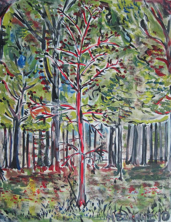 Brooklyn Painting - A Tree Grows In Marine Park by Jacob Mezrahi
