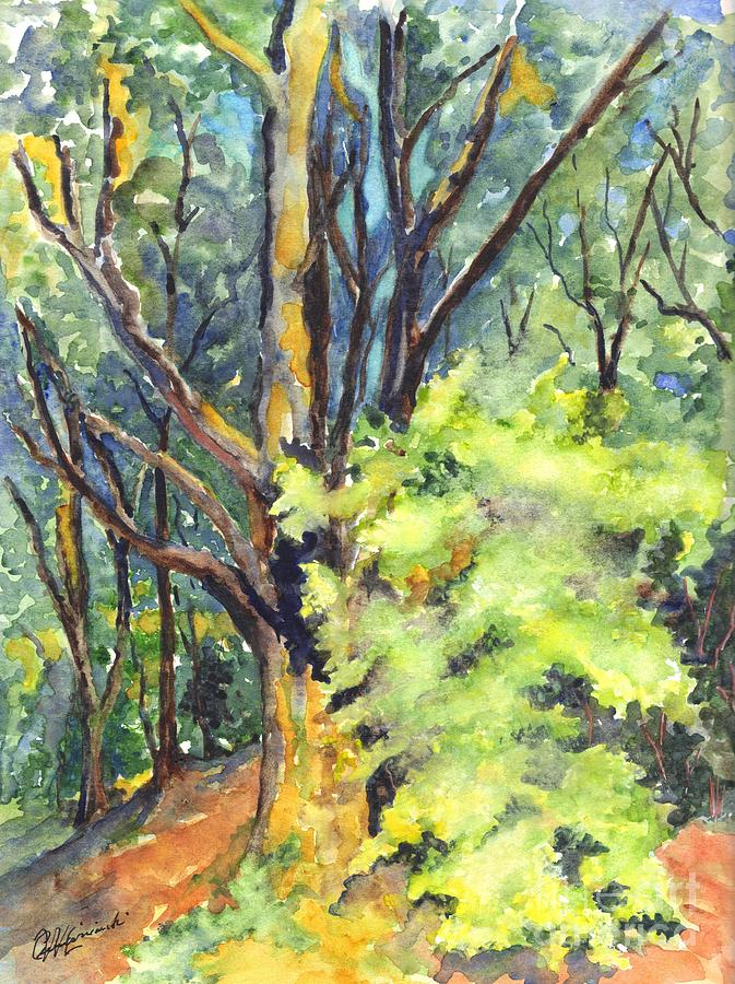 Trees Painting - A Tree In Dunkeld Scotland by Carol Wisniewski