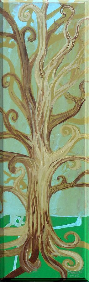 Tree Painting - A Tree In Paris by Genevieve Esson