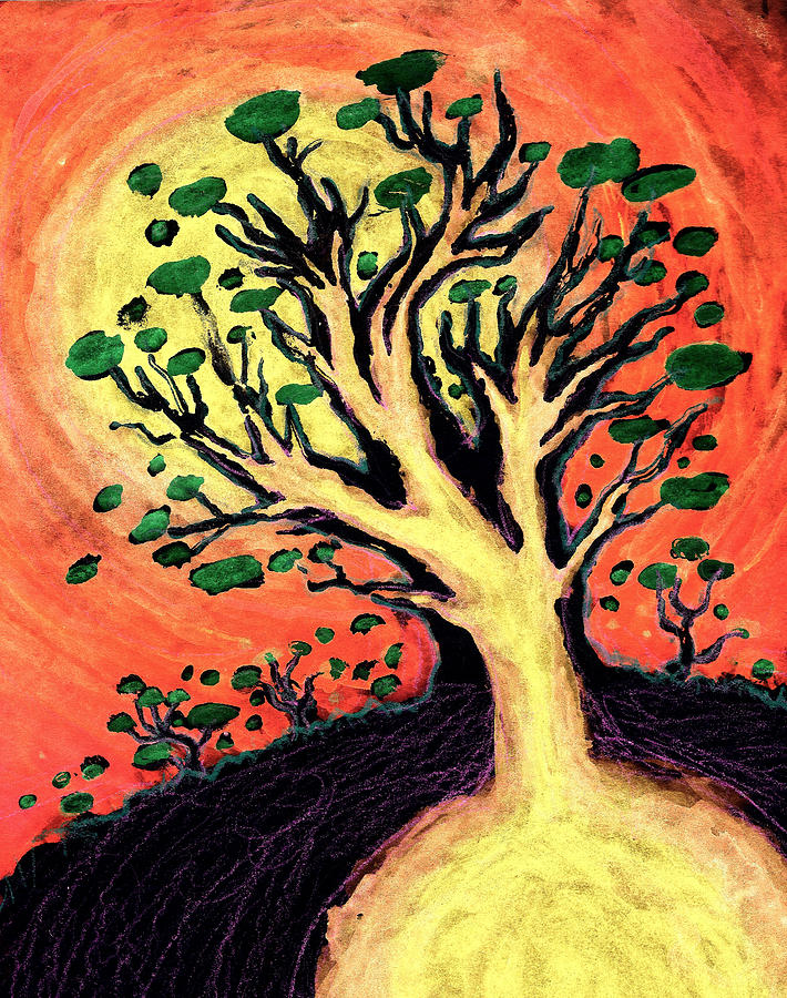 Illustration Mixed Media - A Tree Is Born by David Condry