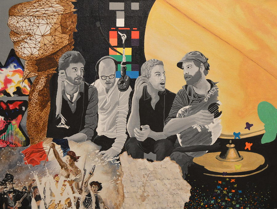 Coldplay Painting - A Tribute by Leah Price