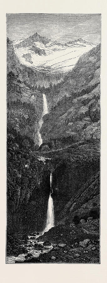 Trip Drawing - A Trip To The Pyrenees Cascade Et Gouffre Denfer by English School