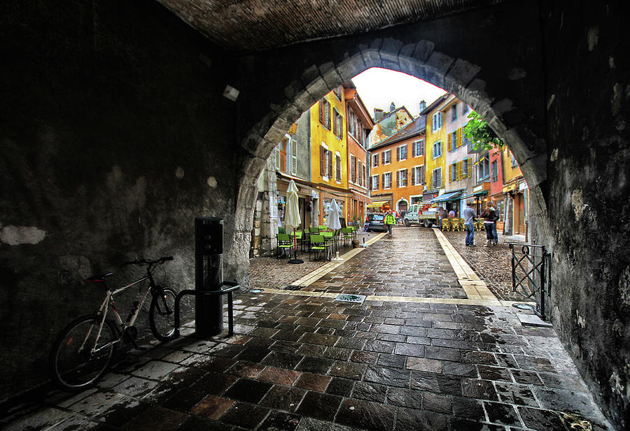 A Tunnel To Beautiful Annecy, France Photograph by L. Toshio Kishiyama