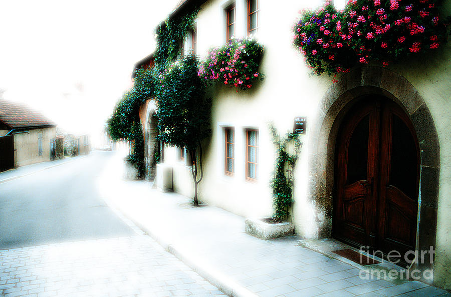 Villa Photograph - A Tuscan Street by Mike Nellums