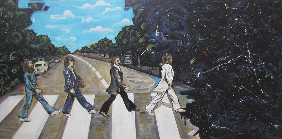 Beatles Painting - A Twist On Abbey Road By Erik Franco.  by Erik Franco