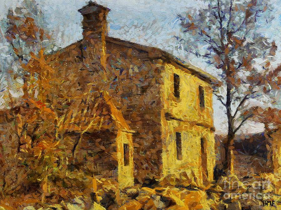 Landscapes Painting - A Typical  Karstic House by Dragica  Micki Fortuna