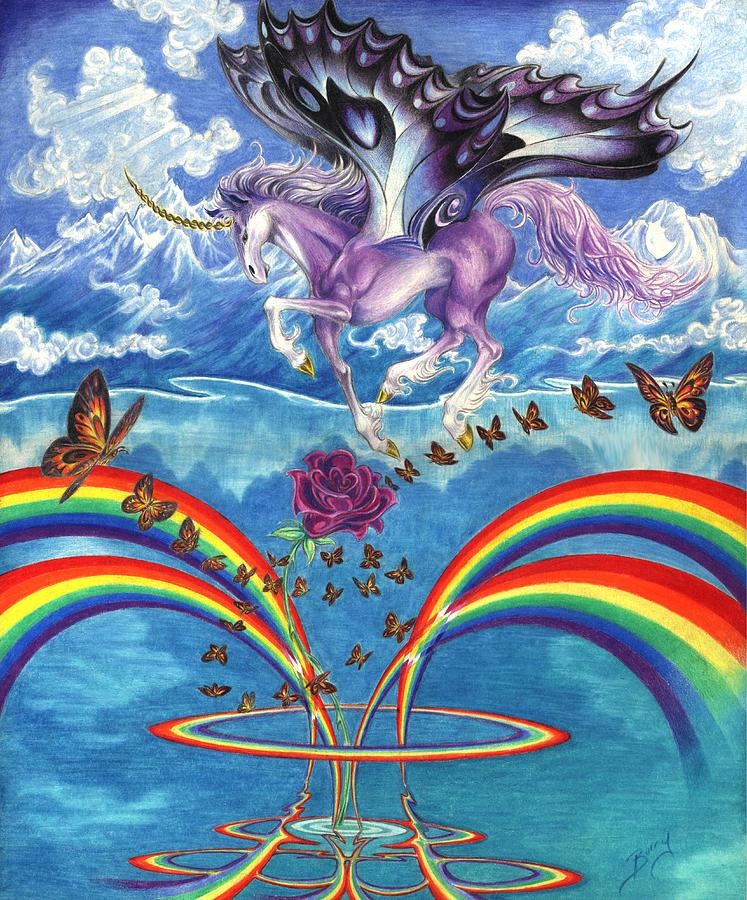Unicorn Digital Art - A Unicorns Love by Barry Munden