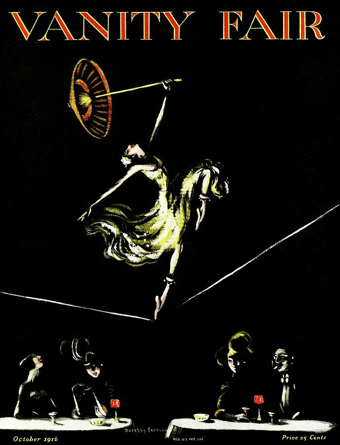 Illustration Photograph - A Vanity Fair Cover Of A Woman Tightrope Walking by Artist Unknown