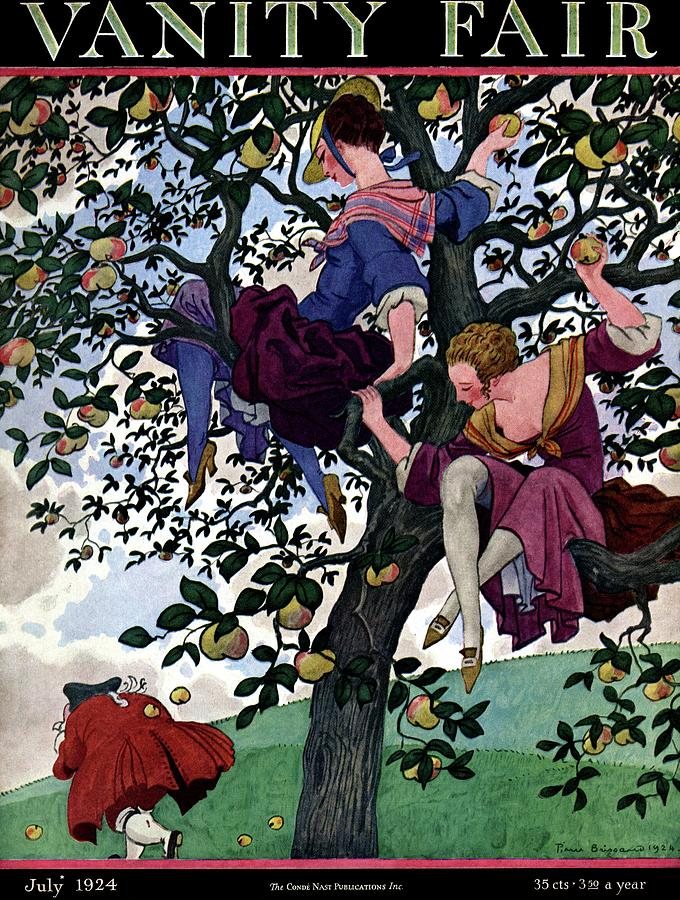 A Vanity Fair Cover Of Women Throwing Apples Photograph by Pierre Brissaud