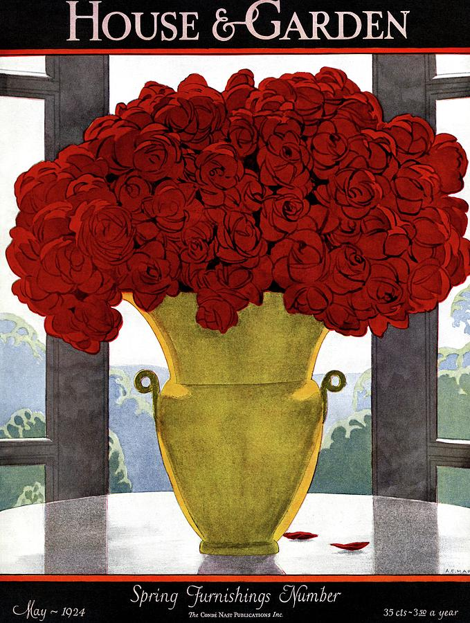 A Vase With Red Roses Photograph by Andre E Marty