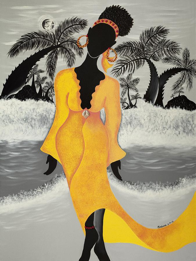 Beach Painting - A Version Of Self by Patricia Sabree