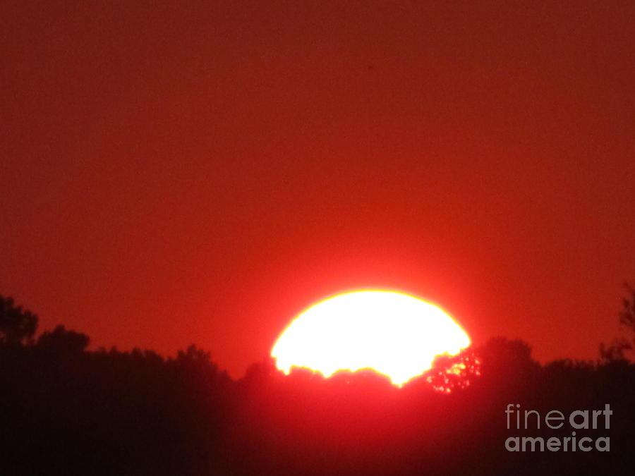 Sun Photograph - A Very Hot Sunset by Tina M Wenger